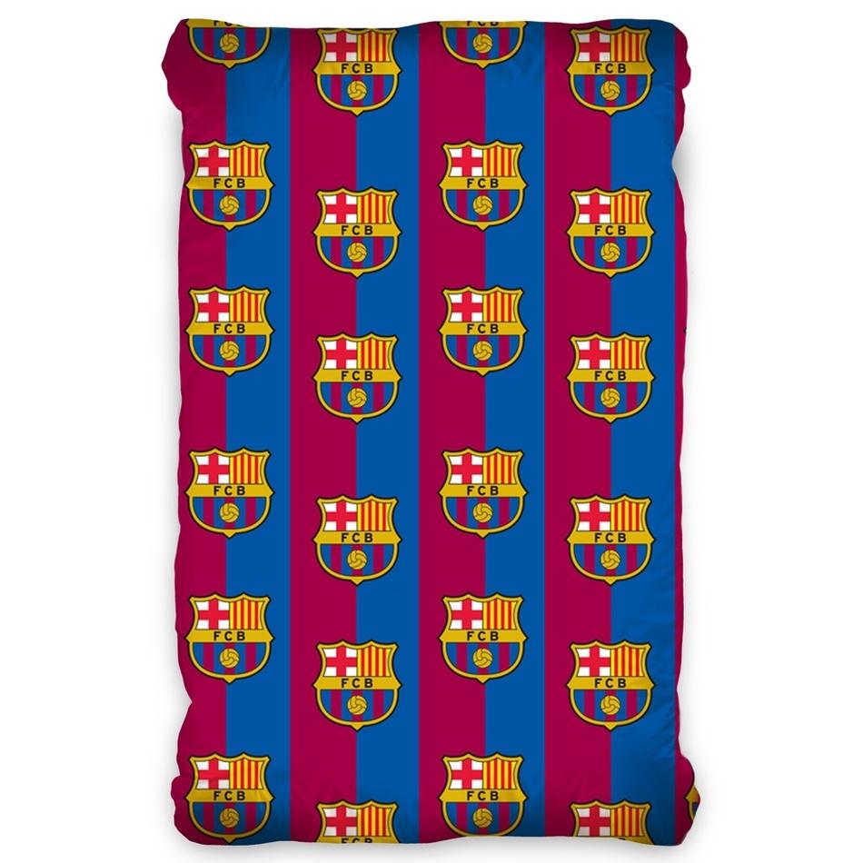 TipTrade Bavlněné prostěradlo FC Barcelona, 90 x 200 cm