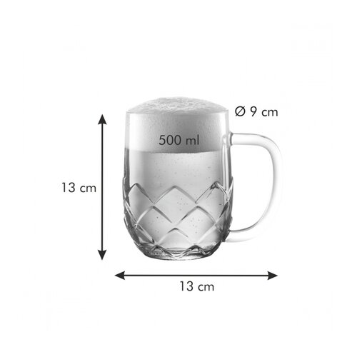 Tescoma Pohár na pivo myBEER Lupulus, 0,5 l