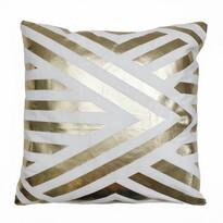 Domarex Vánoční polštářek Deco Gold bílá, 45 x 45 cm