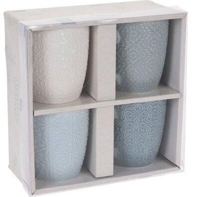 Porcelánbögre készlet, 250 ml, 4 db-os