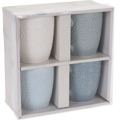 Sada porcelánových hrnčekov 250 ml, 4 ks