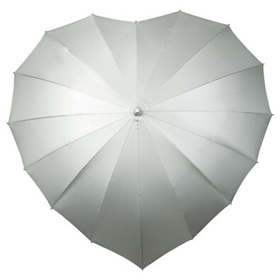 Dámský holový deštník srdce Heart stříbrná
