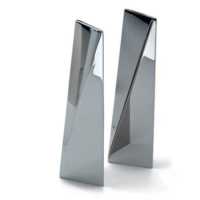 Solniczka i pieprzniczka Twins 15 cm, srebrna