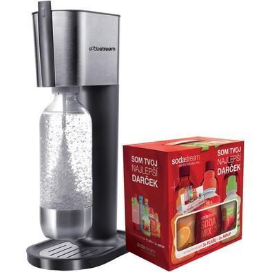 Výrobník sody PURE GREY Sodastream + DÁREK sirupy , šedá