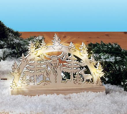 Drevený vianočný svietnik