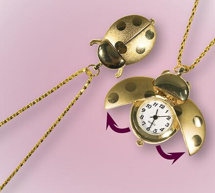 Řetízkové hodinky Beruška, zlatá