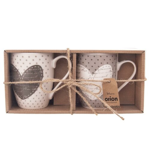 Orion Zestaw podarunkowy kubków porcelanowych Valentine 350 ml, 2 szt.