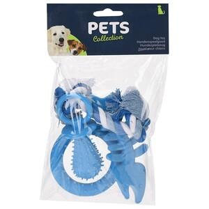 Sada hraček pro štěňata modrá, 4 ks