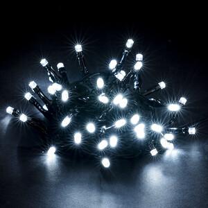 Vánoční světelný řetěz, studená bílá, 48 LED