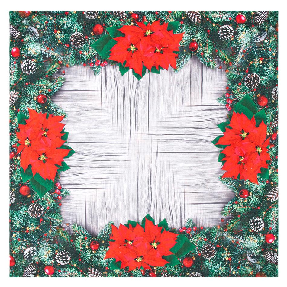 Forbyt Vánoční ubrus Vánoční růže, 85 x 85 cm