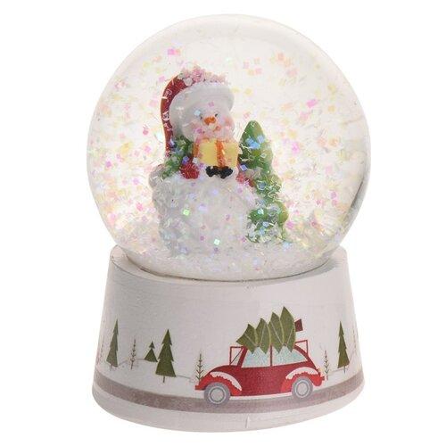 Vánoční sněžítko Snowman with Tree, 8,5 cm