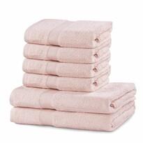 DecoKing Sada ručníků a osušek Marina růžová, 4 ks 50 x 100 cm, 2 ks 70 x 140 cm