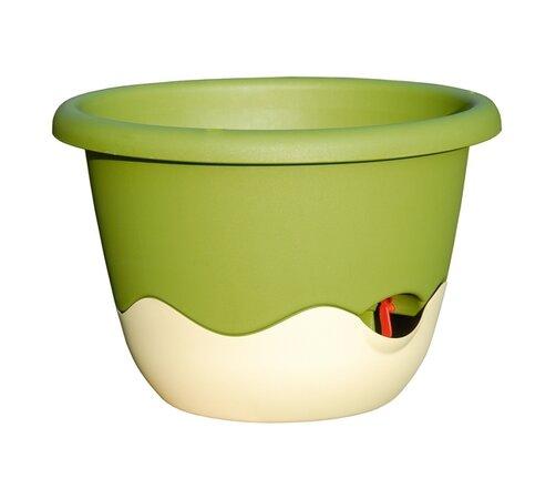 Plastia Samozavlažovací kvetináč Mareta zelená + béžová, pr. 30 cm