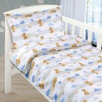 Detské bavlnené obliečky do postieľky Medvedíky,  90 x 135 cm, 45 x 60 cm