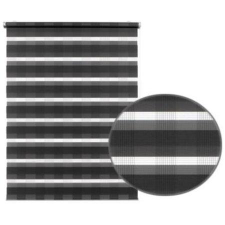 Roleta easyfix Karo dvojitá antracit, 100 x 150 cm