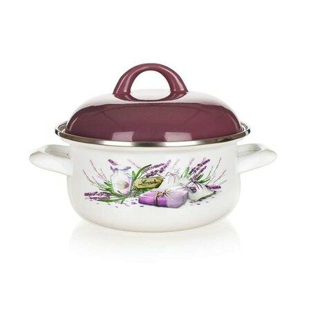 Banquet Smaltovaný kastról Lavender 18 cm