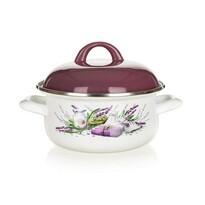 Banquet Smaltovaný kastrol Lavender 18 cm