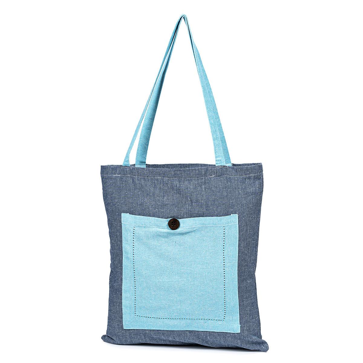 Sacoșă de cumpărături Heda, albastru, 40 x 45 cm imagine 2021 e4home.ro