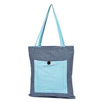 Sacoșă de cumpărături Heda, albastru, 40 x 45 cm