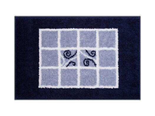 Koupelnová předložka Grund MERIDA modrá,60 x 90 cm