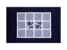 Koupelnová předložka Grund MERIDA modrá, 60 x 90 cm