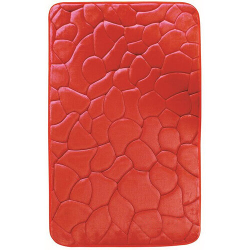 VOPI Koupelnová předložka s paměťovou pěnou Kameny červená, 40 x 50 cm