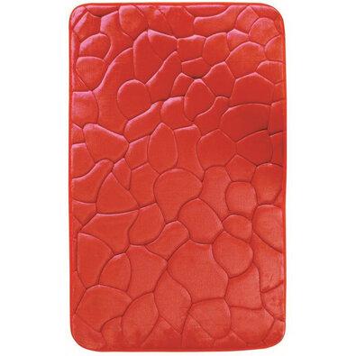 Kövek fürdőszobaszőnyeg memóriahabbal piros, 40 x 50 cm
