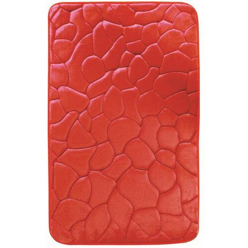 Koupelnová předložka s paměťovou pěnou Kameny červená, 40 x 50 cm