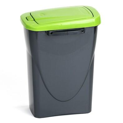 Koš na třídění odpadu zelený