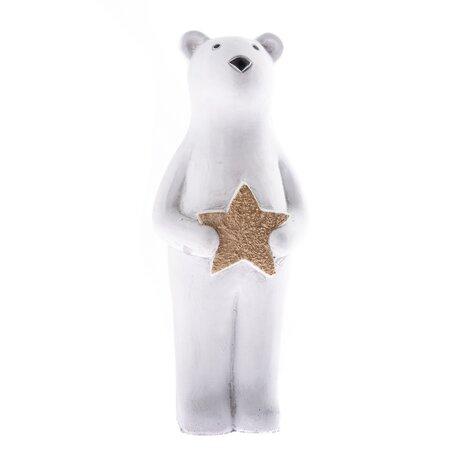 Betonový medvěd s hvězdou, 20 cm