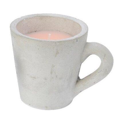 Dekorativní svíčka Mug růžová, 10,5 cm