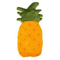 Tvarovaný polštářek Ananas oranžová, 20 x 45 cm