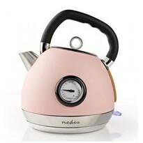 Nedis KAWK530EPK czajnik bezprzewodowy z termometrem, 1,8 l, różowy