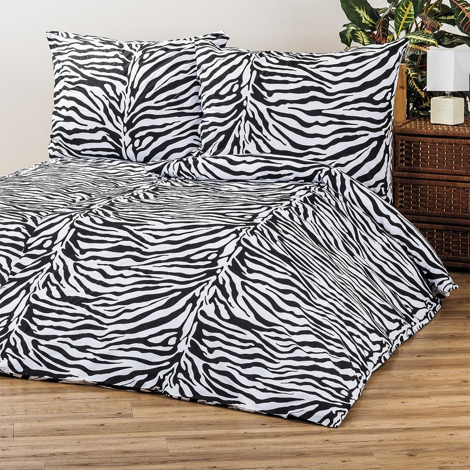 4Home Bavlnené obliečky Zebra, 220 x 200 cm, 2 ks 70 x 90 cm, 220 x 200 cm, 2 ks 70 x 90 cm