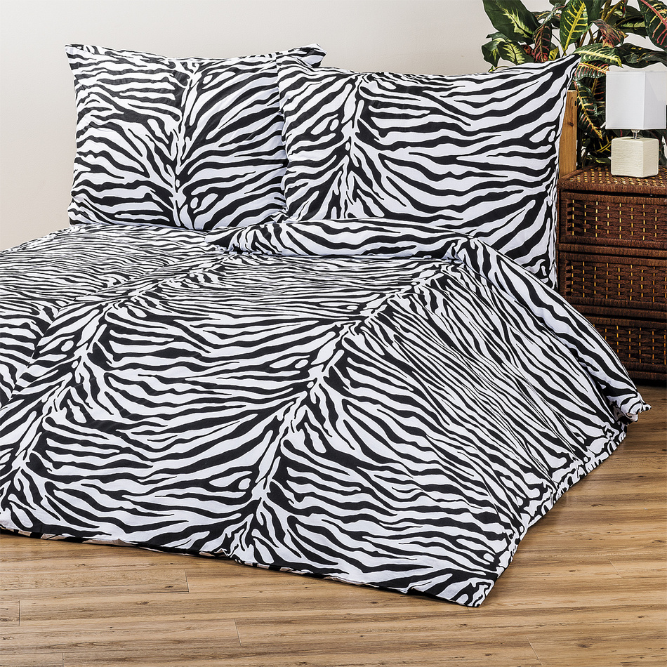4home bavln n povle en zebra 140 x 200 cm 70 x 90 cm 140 x 200 cm 70 x 90 cm. Black Bedroom Furniture Sets. Home Design Ideas
