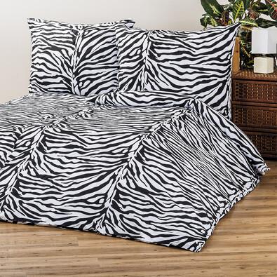 4Home bavlněné povlečení Zebra, 220 x 200 cm, 2 ks 70 x 90 cm