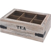 Pudełko na herbatę Tea, 24 x 16 x 9 cm