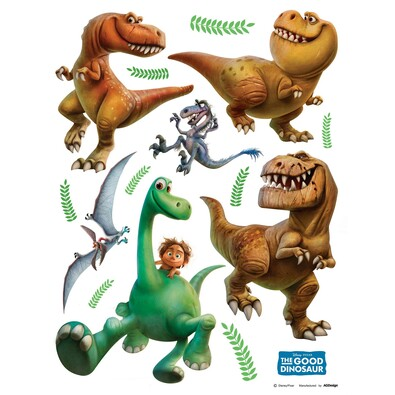 Samolepiaca dekorácia Dobrý dinosaurus, 30 x 30 cm