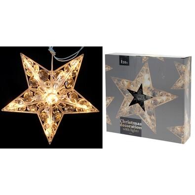Vánoční hvězda do okna Diamant