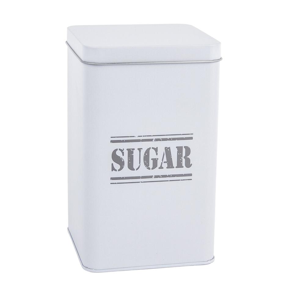 Plechová dóza Sugar, šedá
