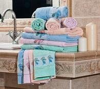 Sada 3 ks ručníků, modrá