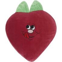 Pernă cu formă aparte Căpșună, 45 x 30 cm