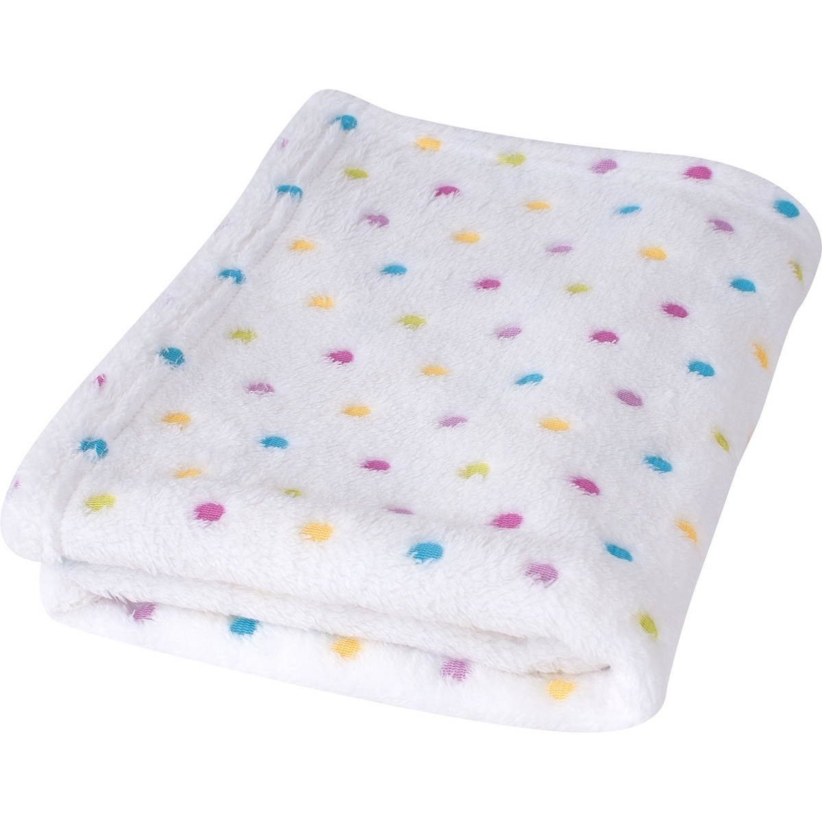 Dětská deka Milly puntík bílá, 75 x 100 cm