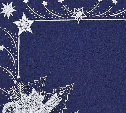 Vánoční ubrus s potiskem, modrá, 35 x 35 cm