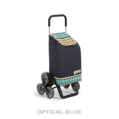 Tris Optical modrá nákupná taška