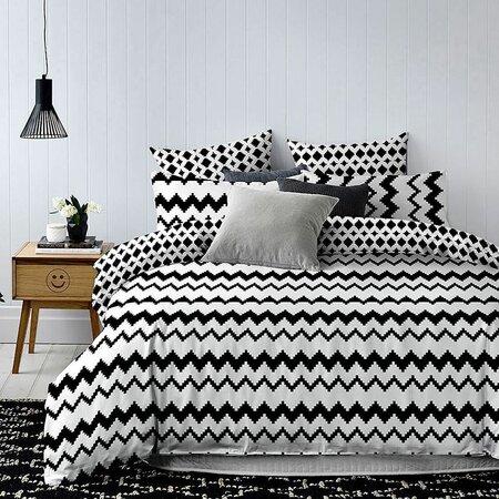DecoKing Povlečení Hypnosis Waves, 140 x 200 cm, 70 x 90 cm