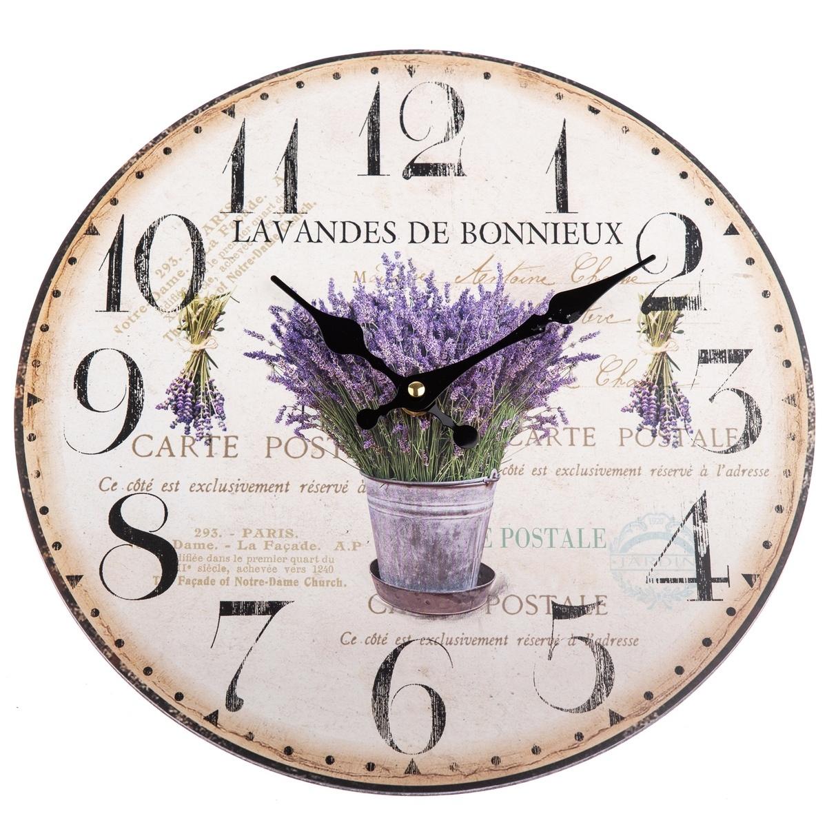 Nástěnné hodiny Lavandes de Bonnieux, 34 cm