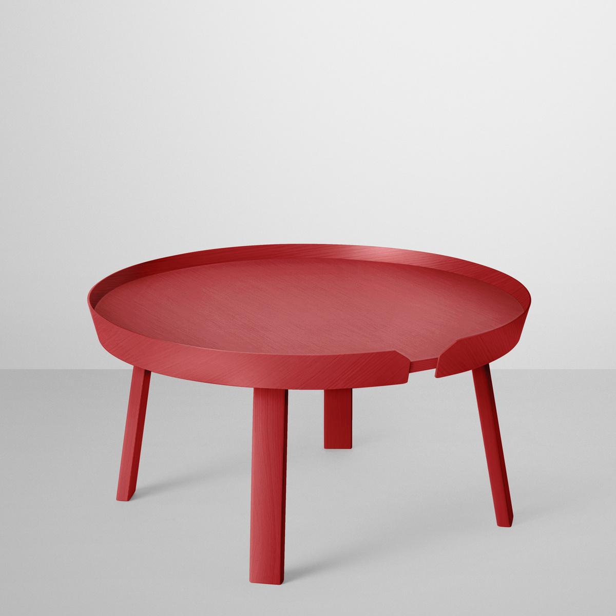 Muuto Konferenčný stolík Around veľký, červený