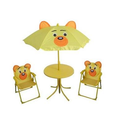 Dětský kempingový set BEAR, žlutá