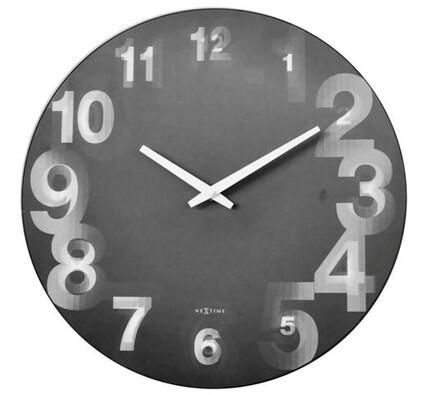 Nextime 3077zw 3D nástěnné hodiny